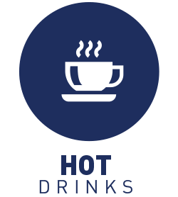 Free coffee and tea and on-site snack bar