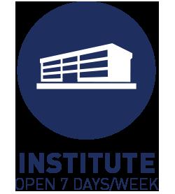 Institute is open 7 days/week
