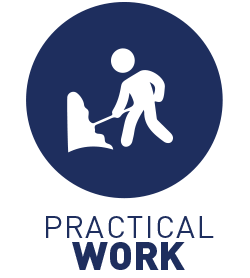 6-8 hours/day practical work, Monday-Friday