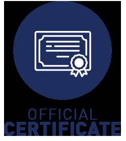 Official certificate of internship work